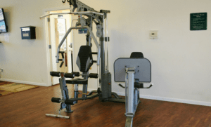 exercise equipment in the fitness center at Remington Square