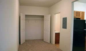 Large closet in one of our Lawrence apartments.